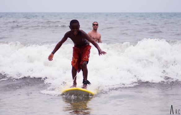 Ski style surf